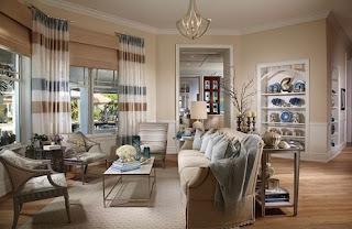 sala decorada con beige