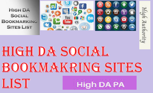 2020 High DA-PA Social Bookmarking Submission Sites List