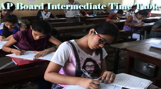 AP Board Intermediate Time Table