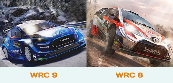 WRC 9 vs WRC 8 Graphics Comparison