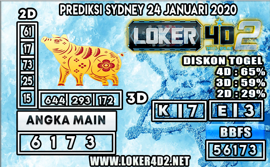 PREDIKSI TOGEL SYDNEY LOKER4D2 24 JANUARI 2020