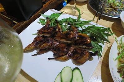 123 ZÔ Vietnamese BBQ Skewers and Hotpot, quails