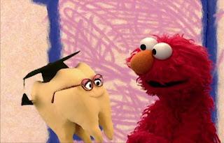 Elmo interviews with wisdom tooth. Sesame Street Elmo's World Teeth Interview