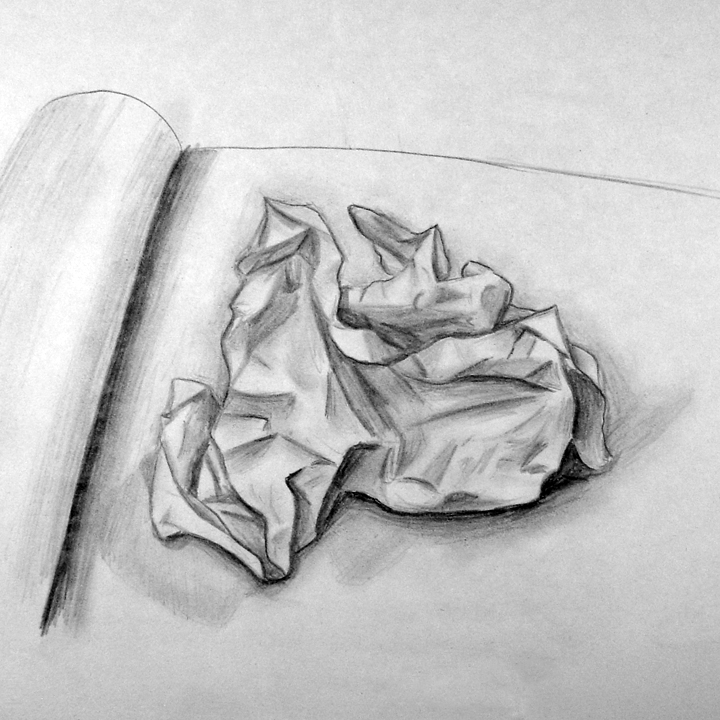 Byuh Drawing Crumpled Paper