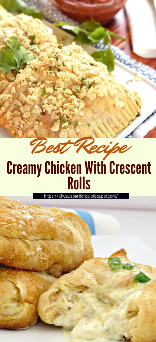 Creamy Chicken With Crescent Rolls #dinnerrecipe #food #amazingrecipe #easyrecipe