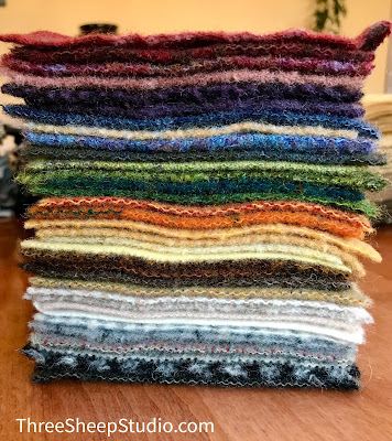 Wool Charm Bundles at ThreeSheepStudio.com in the 'Studio'