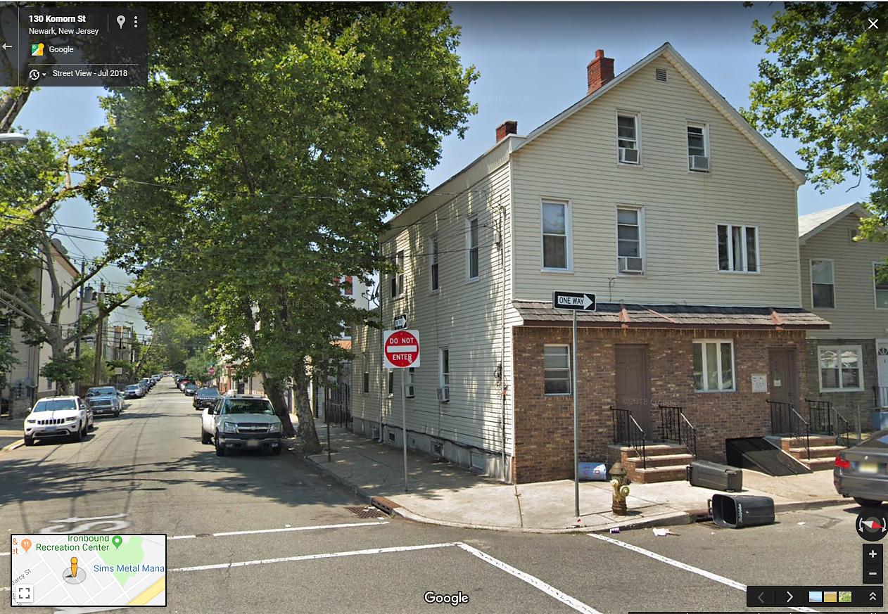 Newark N J  1970s: Komorn St & Main St corner shop (in the