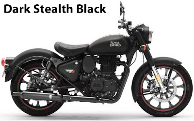 Royal Enfield Classic 350 Dark Stealth Black.