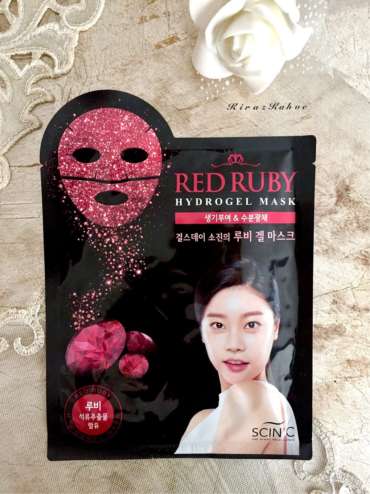 red ruby hydrogel mask