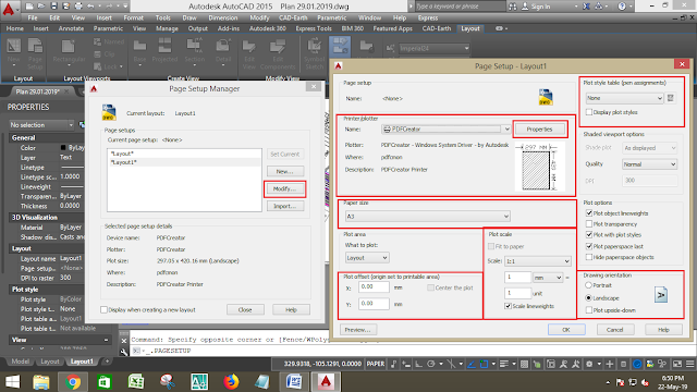 Layout Page setup in Autocad | Print setup in Autocad