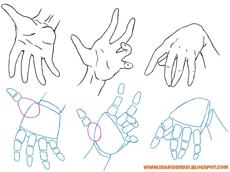 dessiner les mains