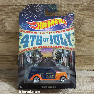 HOT WHEELS 37 Ford Woodie HAPPY 4TH OF JULY 06/06