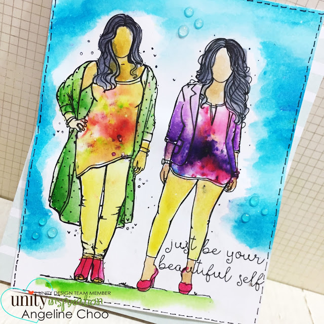 ScrappyScrappy: [NEW VIDEO] April Release Hop with Unity Stamp - Friendship Card #scrappyscrappy #unitystampco #nuvojeweldrop #card #cardmaking #papercraft #craft #scrapbook #kenoliver #colorburst #watercolor #tiedye #angiegirls #quicktipvideo
