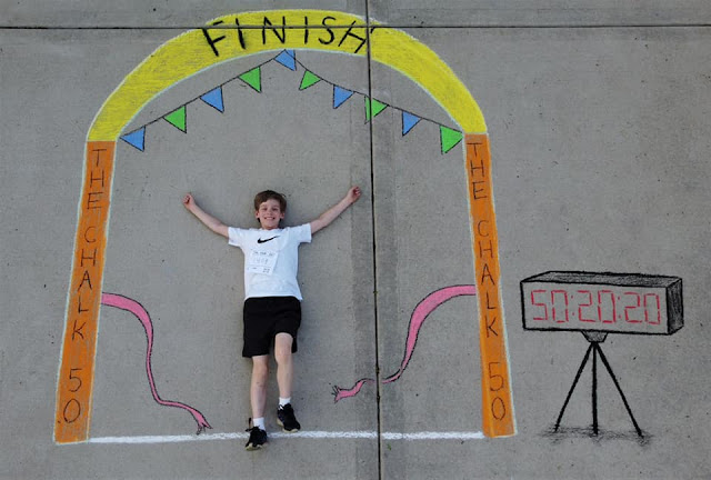 Siblings Spread Joy During Quarantine with Chalk Art for 100 Days