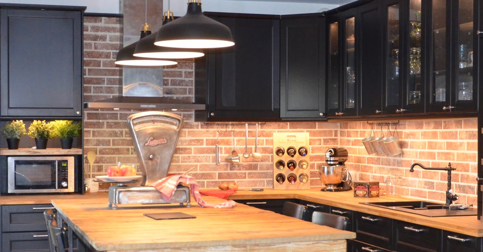 Choisir sa crédence de cuisine effet brique