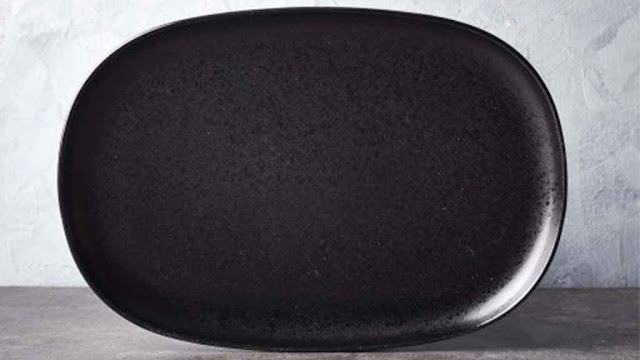 Brewsuniq Stonecast Black Medium Platter 10