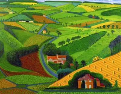 David  Hockney  -The road across the Wolds,1997.