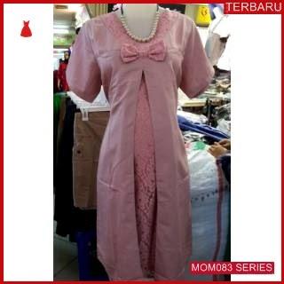 MOM083D12 Dress Hamil Menyusui Athalia Brokat Dresshamil Ibu Hamil