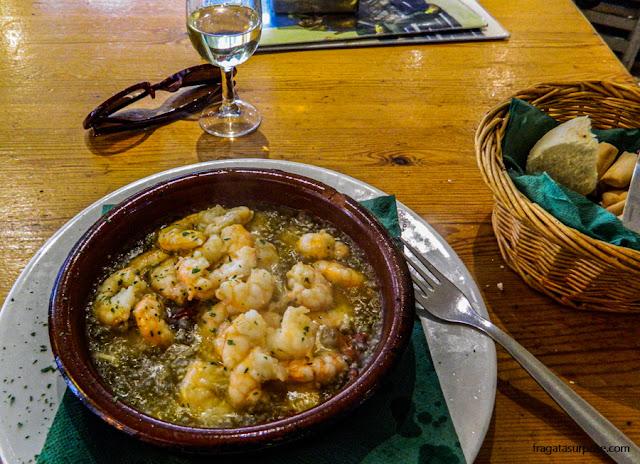 Pratos típicos da Andaluzia: langostinos (camarões)