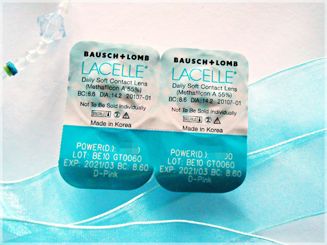 Bausch and Lomb Lacelle Jewel One day Daily Disposable in Pink Rose