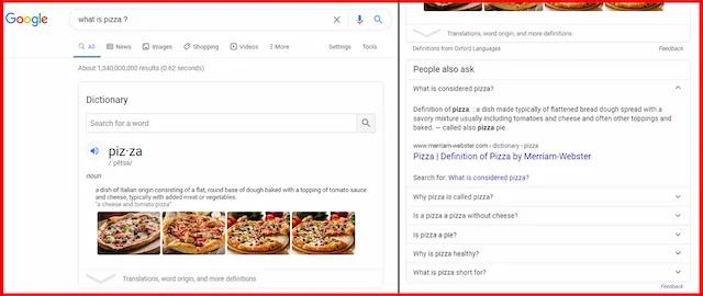 النتيجة الاولى لمحرك بحث جوجل Featured Snippet