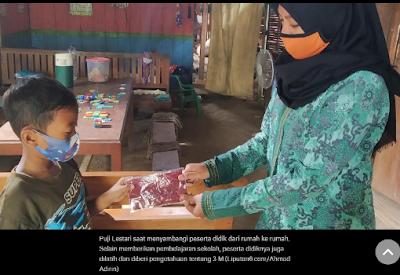 Perjuangan Guru Honorer di Perbatasan Jatim-Tateng Keliling ke Rumah Siswa