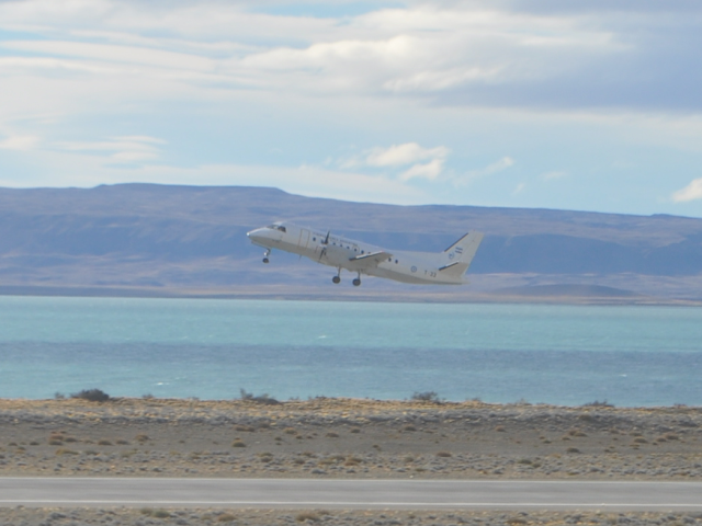Tempo de avião até El Calafate, na Argentina