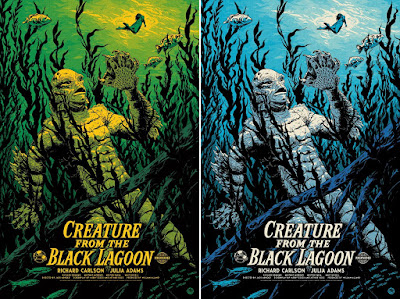 Universal Monsters The Creature From The Black Lagoon Screen Print by Johnny Dombrowski x Mondo