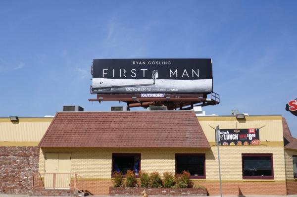 First Man billboard