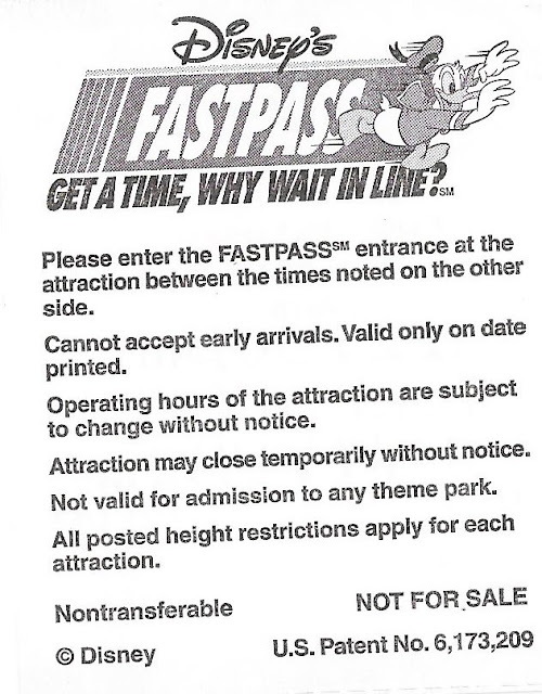 Fastpass Instructions 2006 Disney World