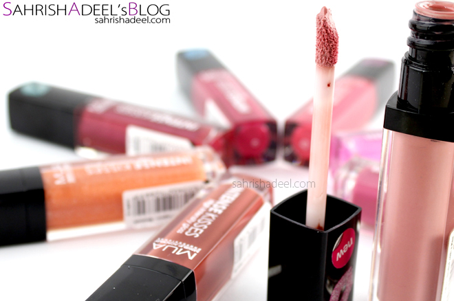 MUA Intense Kisses Lip Glosses - Full Range Review & Swatches