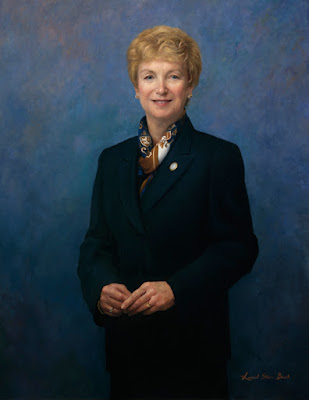 Official portrait of Governor M. Jodi Rell by Laurel Stern Boeck
