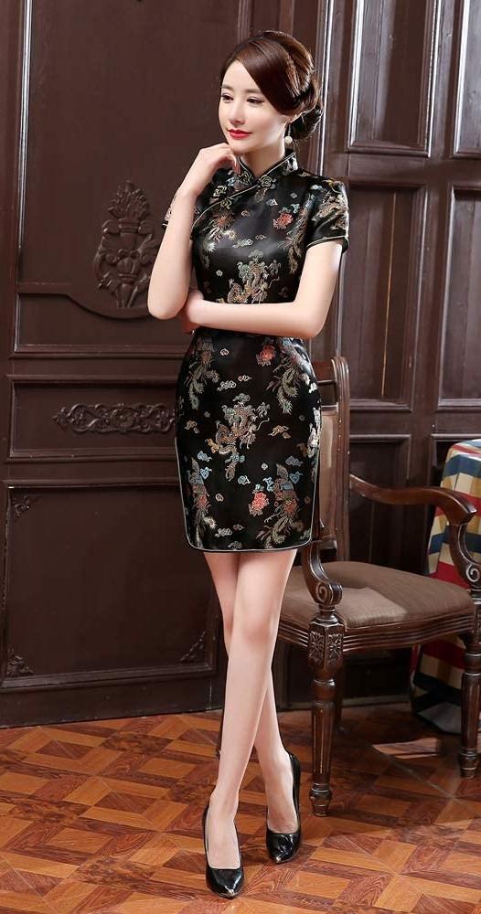 Mini Cheongsam Qipao Dresses For Women