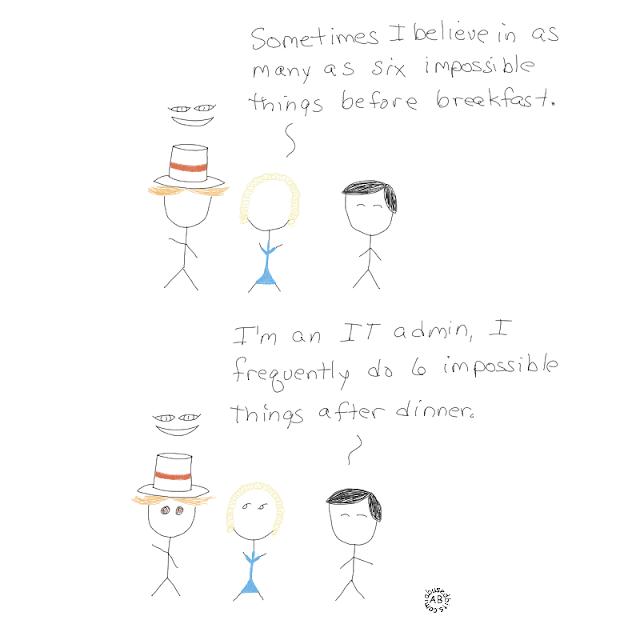 amusedbits, impossible things, alice in wonderland, cartoon