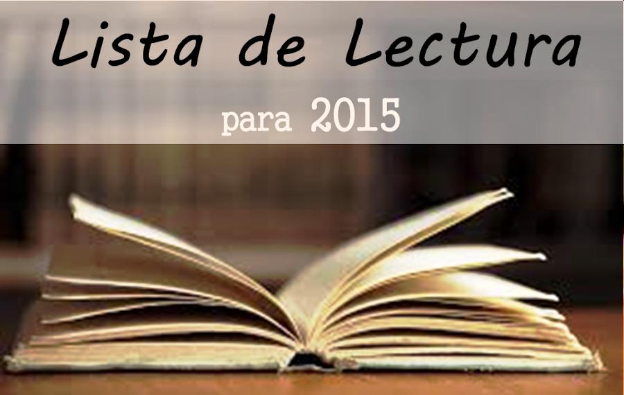 lista de lectura para 2015