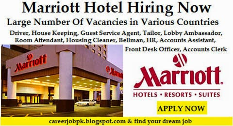 Job Vacancy in Marriott Hotel Dubai