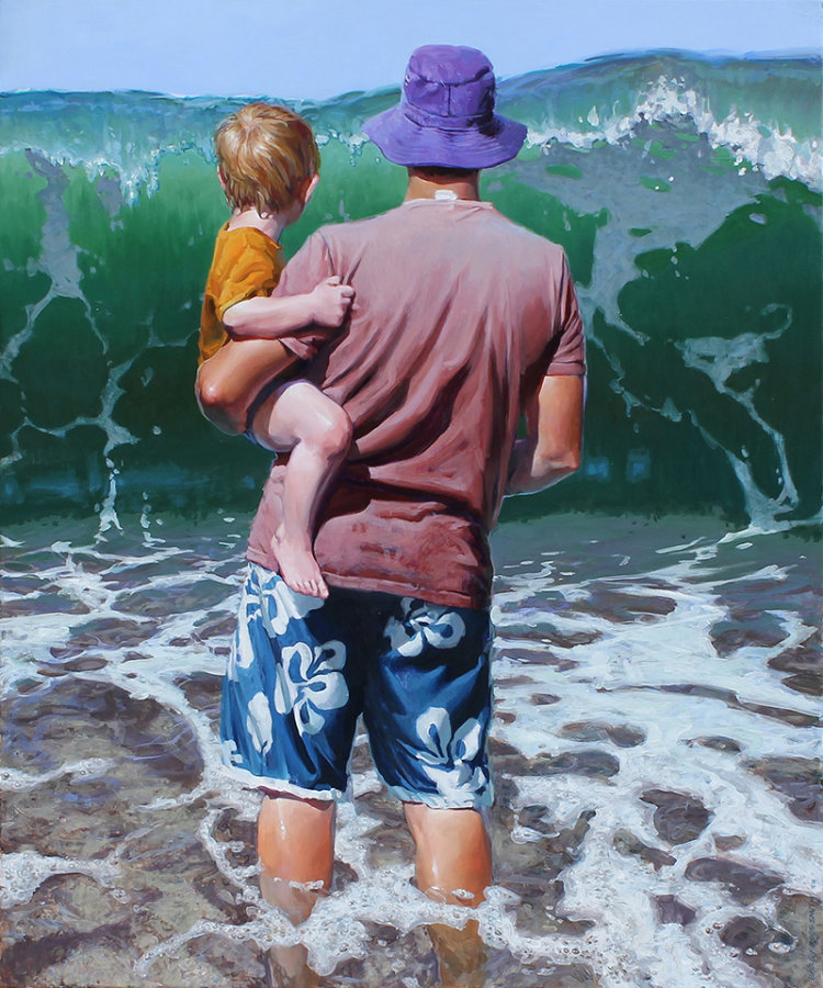 Artist Creates Stunning Illustrations Inspired From His Beach Trip With Family