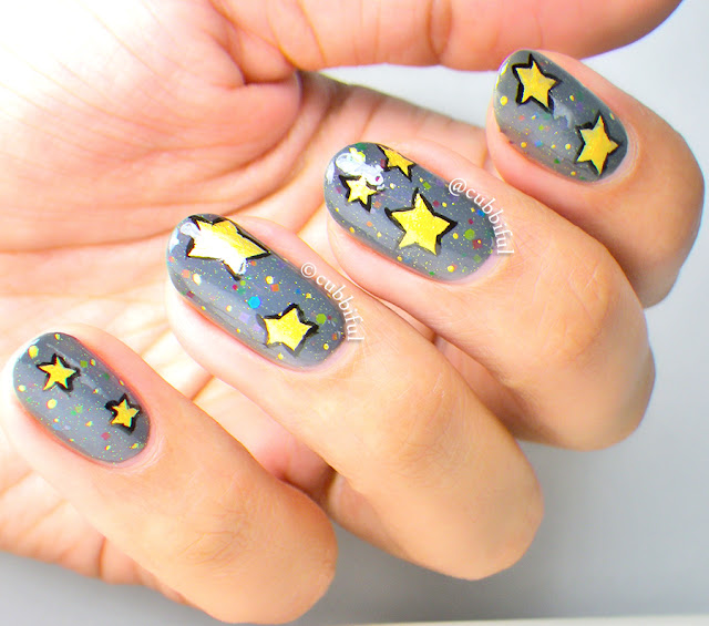 Kawaii Stars Nail Art