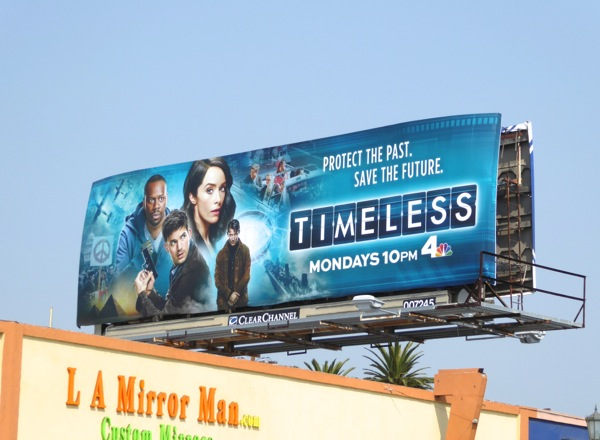 Timeless series premiere billboard