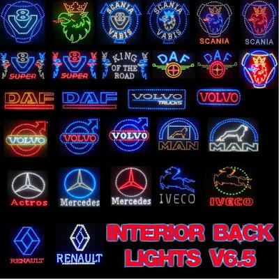 Interior Back Lights v6.5 - ETS2 1.39