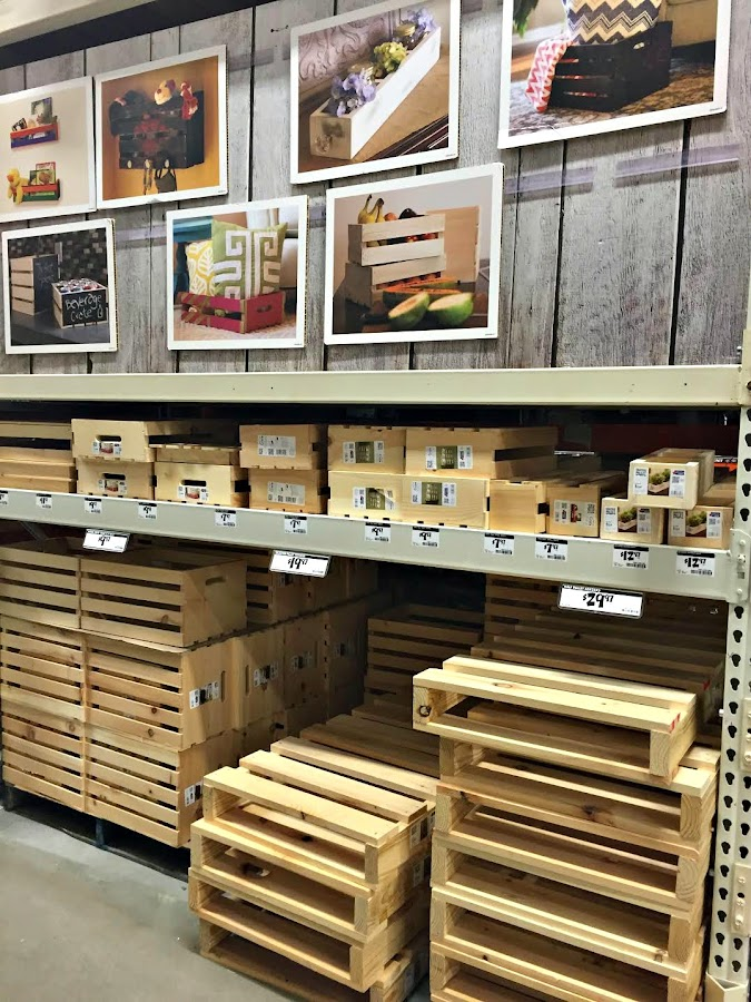 Wood crates and pallets Home Depot