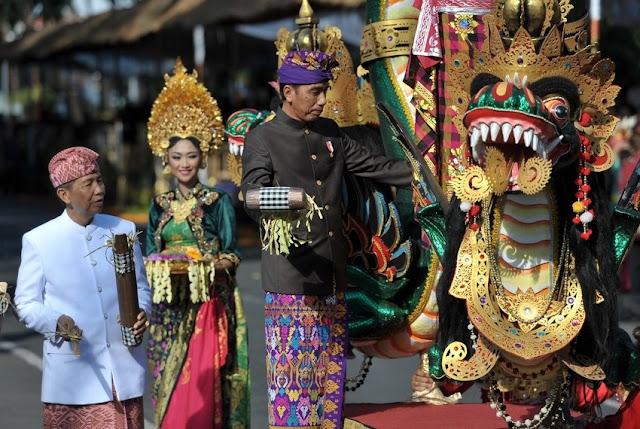 President Joko Widodo at Bali Arts Festival