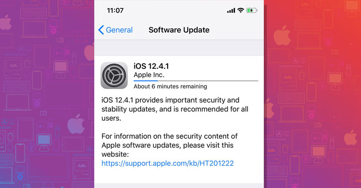 Apple Releases iOS 12.4.1 Emergency Update to Patch 'Jailbreak' Flaw