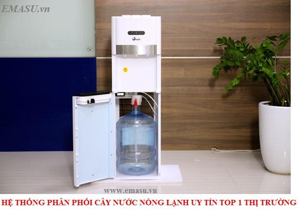 Cây nước nóng lạnh FujiE WD6500C bình nước đặt bên dưới dễ dàng sử dụng