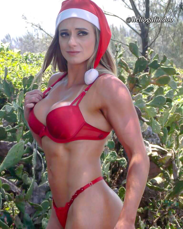 Katiuska Glesse posa de Mamãe Noel sexy. Foto: Hélio Galindo