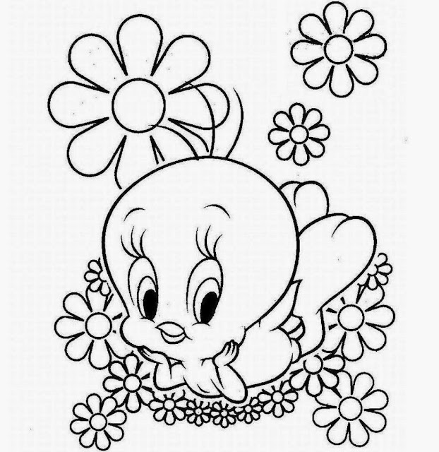 Tweety Bird Coloring Cartoon Drawing Free wallpaper