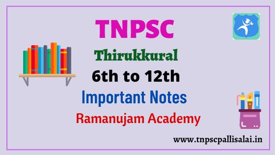 6th to 12th Thirukkural Short Notes