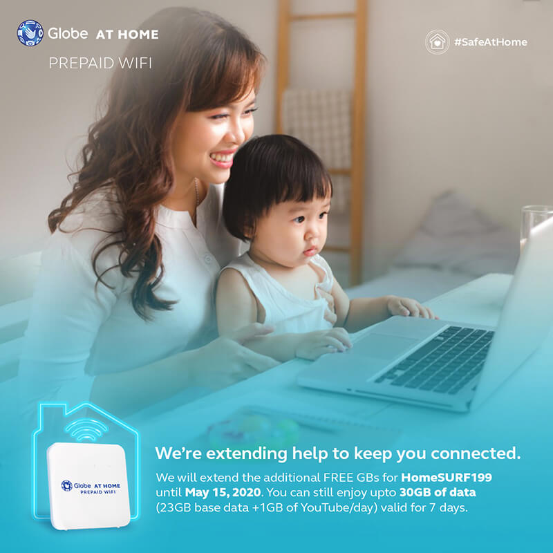 Globe at Home Prepaid WiFi's HomeSURF199 FREE data boost extended!