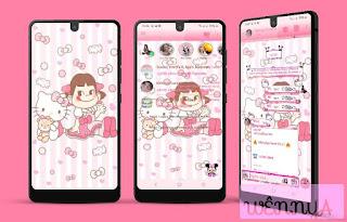 Hello Kitty & Anime Girl Theme For YOWhatsApp & Fouad WhatsApp By Wennya
