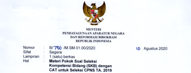 Kisi Materi Soal Tes SKB CPNS Formasi Tahun  KISI-KISI MATERI SOAL SKB TES CPNS FORMASI TAHUN 2019 (SKB TES CPNS 2020)